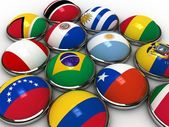 South america flags — Stockfoto