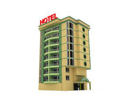 3d hotel — Stock fotografie