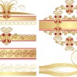Royalty-Free Stock Imagen vectorial: Collection of gothic ornaments