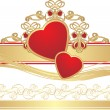 Royalty-Free Stock Vector Image: Two hearts with gothic ornament