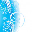 Vector de stock : Snowflakes. Romance Christmas background