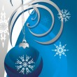 Royalty-Free Stock Векторное изображение: Christmas ball and snowflakes. Card