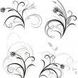 Royalty-Free Stock Vector Image: Four floral ornaments