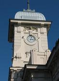Vitebsk Station. Clock Tower. St. Peters — Stock Photo