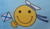 Flag-smiley-gesicht am tag der marine — Stockfoto