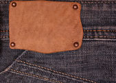 Tag on the jeans — Stock Photo