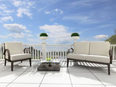 Open terrace — Stock Photo