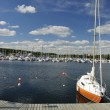 Swedish yacht marina — Stock Photo #3498992