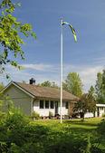 Summer Swedish back garden — Stock Photo