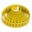 Yellow measuring tape — Foto Stock