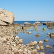 Sea and stones background - Stock Photo