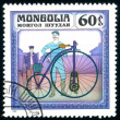Postage stamp. Vintage bicycle. - Stock Photo