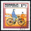 Postage stamp. Vintage bicycle. — Stock Photo