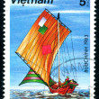 Postage stamp. Ship. - Stock Photo
