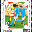 Postage stamp. Football. — ストック写真