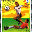 Postage stamp. Football. — Stock Photo