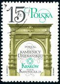 Postage stamp. Poland city. — Stock Photo