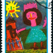 Polish postage stamp — Stock Photo