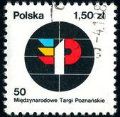 Polish postage stamp — Stock Photo