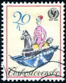 Czechoslovak postage stamp — Stock Photo