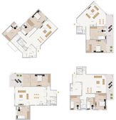 Floor plan — Stock Photo