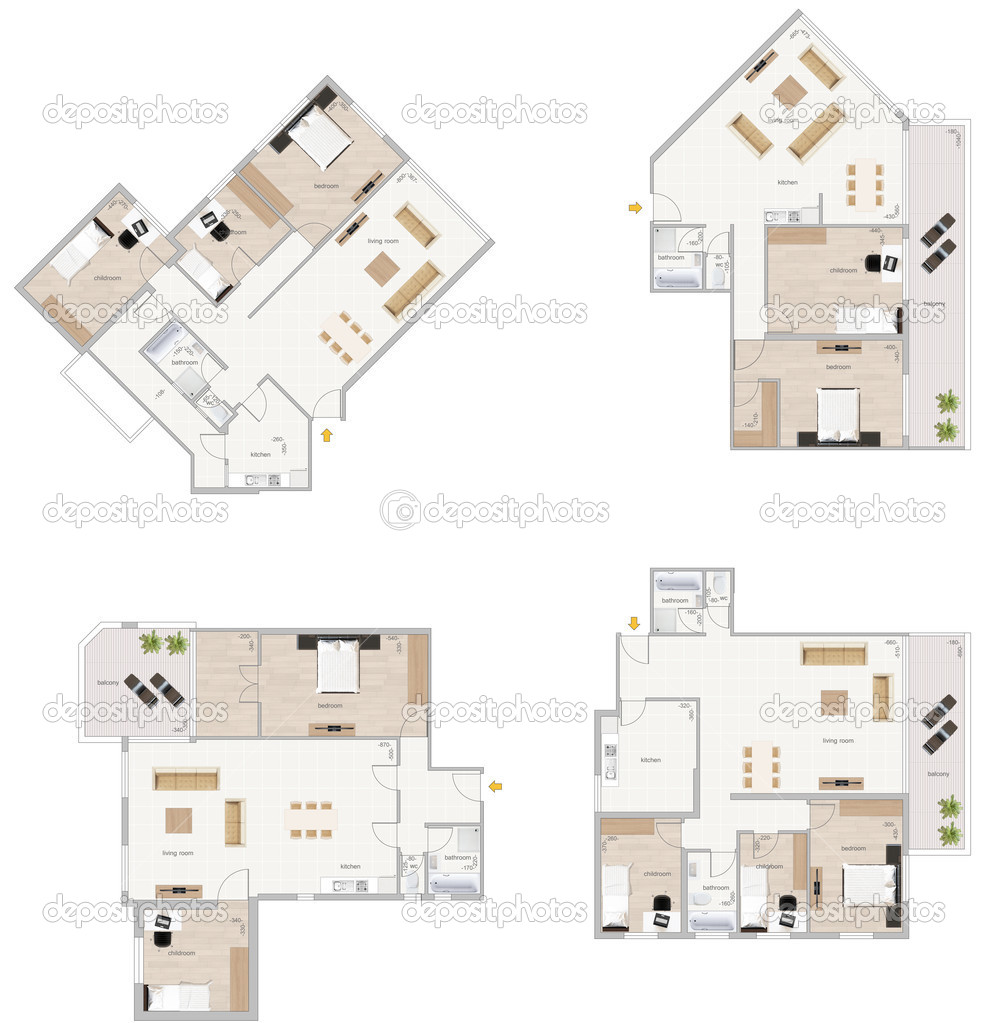 Floor plan stock photo annamarynenko 3081917 for Stock floor plans