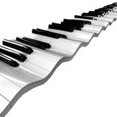Wavy piano keyboard — Stock Photo