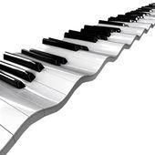 Wavy piano keyboard — Stock Photo