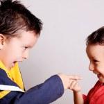 Children pointing — Stock Photo