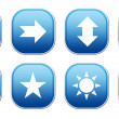 Blue Icons — Stock Photo