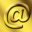 Gold email - Stock Photo