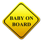 Baby on board — Stock Photo