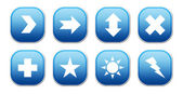 Blue Icons — Foto Stock