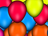 Many balloons — Stock Photo