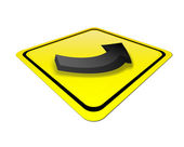 Yellow signal — Stock Photo