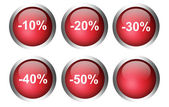 Red buttons — Stock Photo
