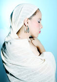 White robe — Stock Photo