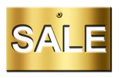 Gold sale — Stock Photo