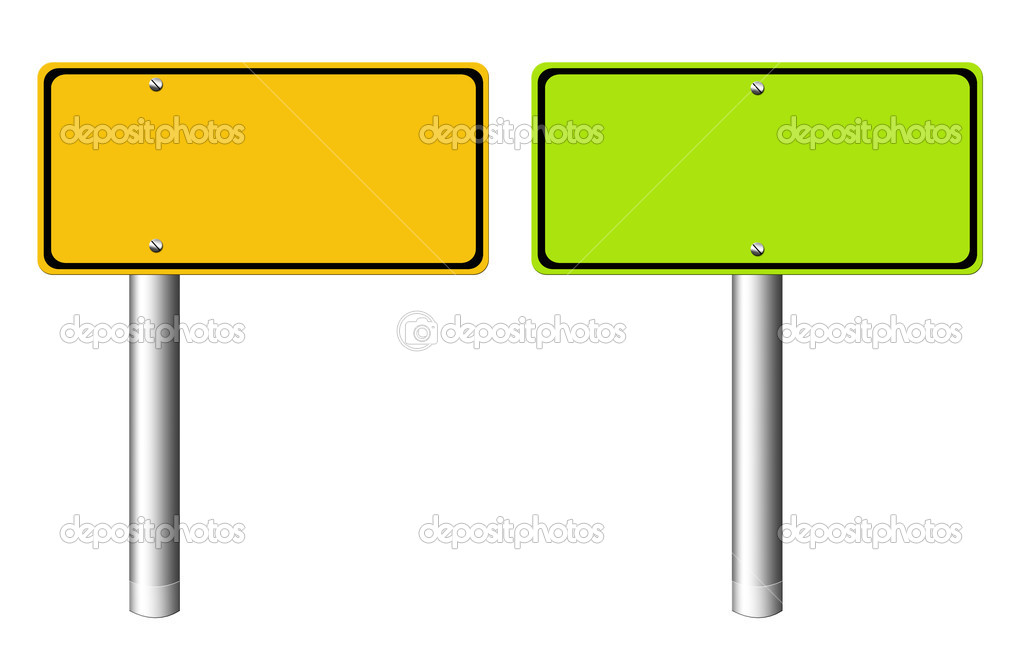 Green and orange rectangles  over white Background  — Stock Photo #2703668