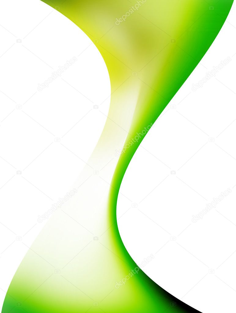 Green wave over white background. abstract illustration — Stock Photo #2704046