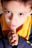 Praying and looking up — Stock Photo