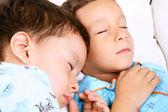 Sleeping children — Stock Photo