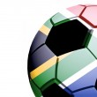 South Africa flag and ball — Stock Photo #3197826