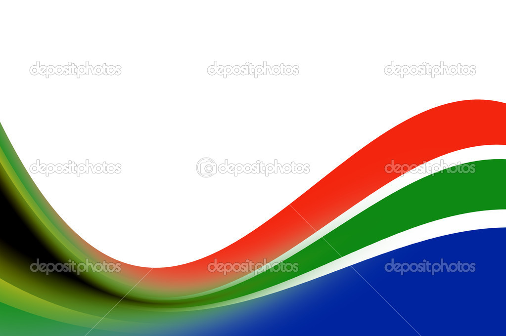 Waves illustration with south africa colors. Illustration — Stock Photo #3197838