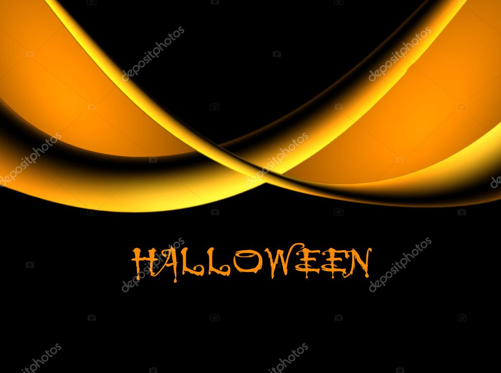 Orange waves over black background, halloween illustration — Stock Photo #4088452