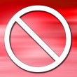Stock Photo: Prohibit