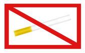 Segnale di non fumare — Foto Stock
