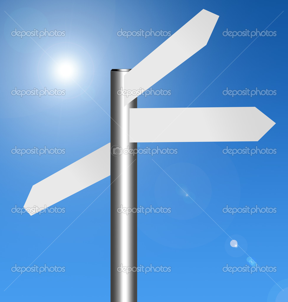 Signal to insert text on Blue sky background — Stock Photo #4845964
