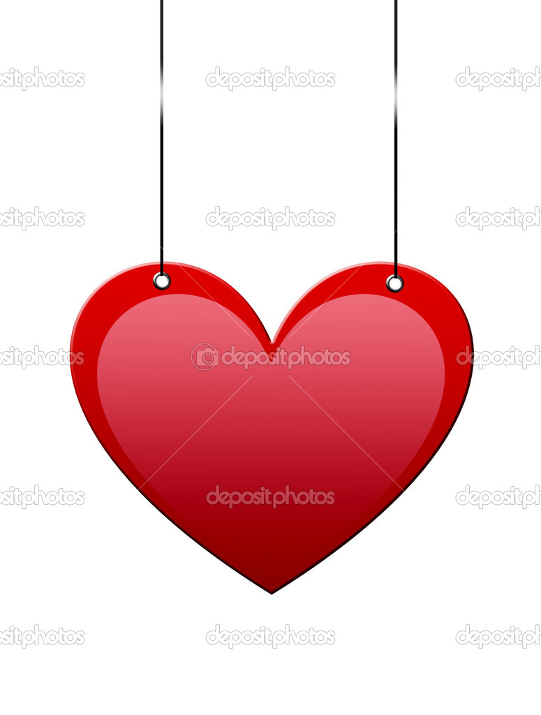 Heart hanging with space to insert text or design  Stockfoto #4853627