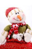Vánoční sněhulák — Stock fotografie
